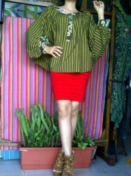 Model Baju dari Kain Tenun Lurik Kain Tenun Indonesia